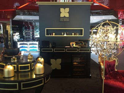 The Fragrance Du Bois 'pop up' at TANGS at Tang Plaza, Singapore.