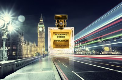 Fragrance Du Bois' latest fragrance 'London Oud', to be launched in conjunction with the brand's first anniversary.