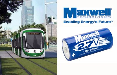 Maxwell Technologies Selected by CAF Power & Automation for Catenary-Free Rail Modules