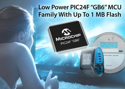Microchip's new cost-effective low power PIC(R) MCUs extend battery life and eliminate external memory via 1 MB of dual-partition flash