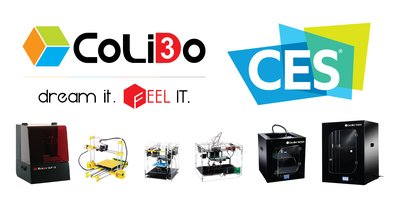 CoLiDo 3D Printers will have their first appearance in CES Show in 6 – 9 Jan 2016 in Sands Expo, Las Vegas