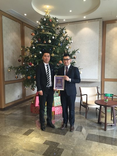 """Aroma Garden Serviced Suites by Lanson Place is awarded as the """"2015 Best New Serviced Apartment"""""""
