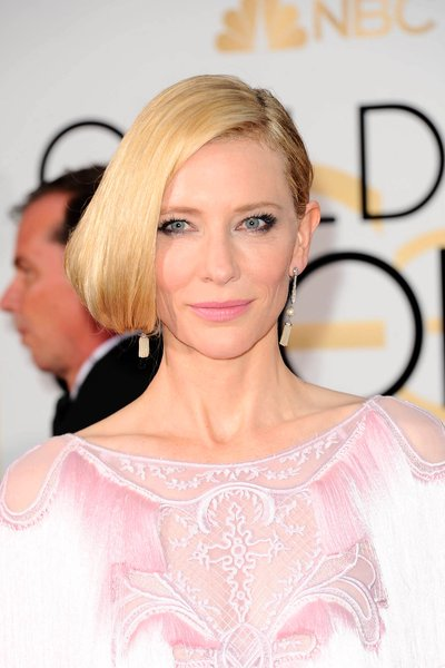 Get Cate's Dewy Golden Globes Glow
