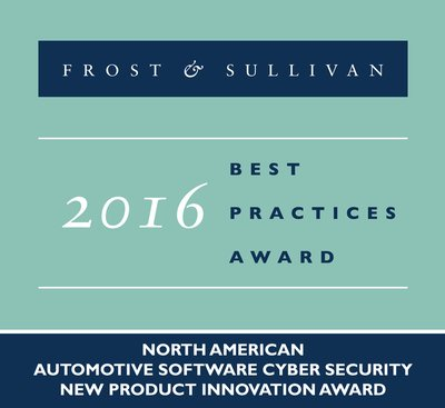 Frost & Sullivan Lauds TowerSec with 2016 New Product Innovation Award for Offering an Embedded Software Solution to Resolve Cyber Threats in Connected Vehicles