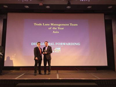 DHL Global Forwarding Hong Kong wins inaugural 'Trade Lane Management Team of the Year' in Asia at IAIR Awards 2016