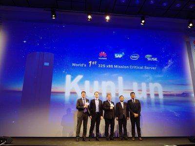Huawei Launches KunLun, the World's First 32-Socket x86 Mission Critical Server