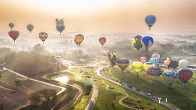 Romance Awaits for Valentine's Day 2017 at Singha Park International Balloon Fiesta in Chiang Rai, Thailand
