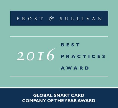 Frost & Sullivan Awards Oberthur Technologies as Company of the Year in the Global Smart Cards Market
