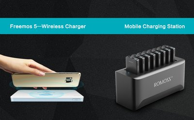 ROMOSS Releases Wireless Charger and Commercial Mobile Charging Station