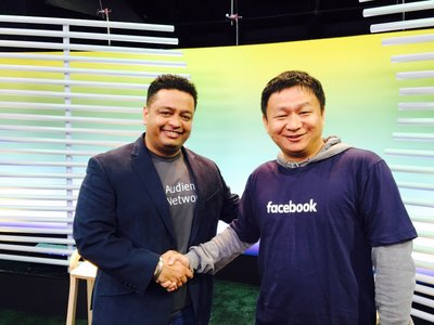 360 Security CEO, Zhou Yahui, with Ashwin Puri