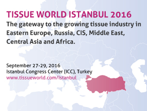 Tissue World Istanbul Tradeshow and Conference 2016, a Unique Addition to the Global Tissue World Portfolio