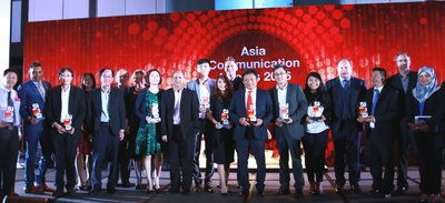 Huawei celebrating the win with other proud recipients of the ACA Awards.