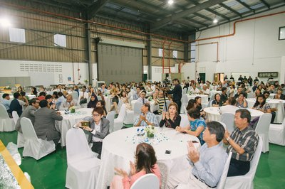 Guests at the official launch of Asia Plantation Capital's state of the art facility.