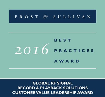 Frost & Sullivan Acclaims Averna for Global Leadership in the RF Record and Playback Solutions Market