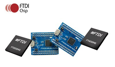 Now Available from RS Components, Compact Dual- and Quad-Channel Hi-Speed USB Interface Chips from FTDI