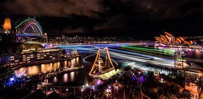 Vivid Sydney 2016 - Sydney Harbour credit Destination NSW