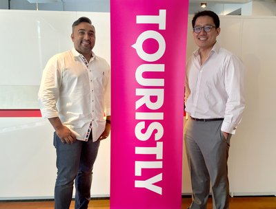 (L-R) Touristly CEO & Founder, Aaron Sarma and Gareth Lim, Co-Managing Partner of Tune Labs.