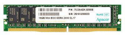 Apacer Launches VLP DDR4 Mini ECC UDIMM Series