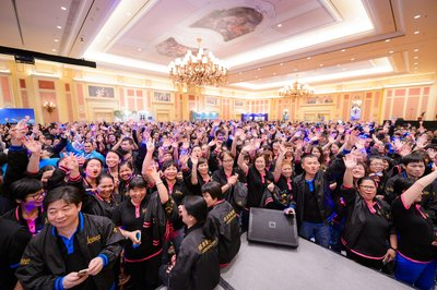 Parisian Macao team members attend a team member rally for The Parisian Macao at The Venetian Macao.