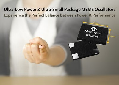 Microchip Introduces the Industry's Smallest Package and Lowest Power MEMS Oscillators in DSC6000 Family
