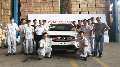 GAC Motor finishes parts assembly and testing of its first eight GS4 vehicles for its GAC Motor SKD (semi knocked-down) project through CIG Motors, distributor of GAC Motor in Nigeria.