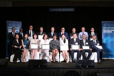 Top Singapore Firms Recognized at the 2016 Frost & Sullivan Singapore Excellence Awards