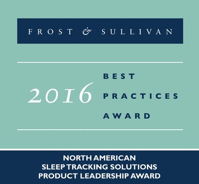 Frost & Sullivan recognizes ResMed with the 2016 North American Product Leadership Award for sleep tracking solutions.