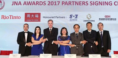 Dukungan kuat dari Mitra JNA Awards 2017: Guangdong Gems & Jade Exchange; Rio Tinto Diamonds; UBM Asia; Chow Tai Fook Jewellery; Shanghai Diamond Exchange; dan Guangdong Land Holdings Limited