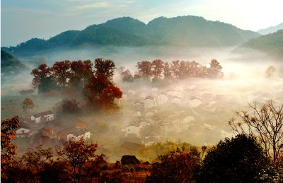 Wuyuan's Shicheng Village Sets Up New Routes for Visitors as Fall Foliage Reaches Peak Season