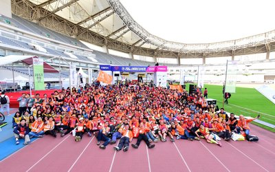 Air Liquide China employees volunteered as first responders for 2016 Shanghai International Marathon