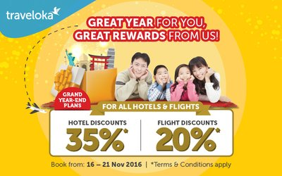Great Savings on Flights and Hotels with Traveloka's First Year-end Campaign