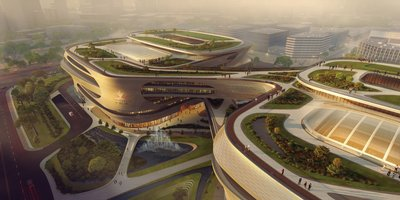 Guangzhou Infinitus Plaza Designed by Zaha Hadid Breaks Ground