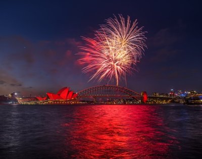 Westpac Painting the Town Red (Credit: City of Sydney)