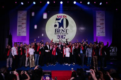 The winning chefs and restaurateurs celebrate at the fifth annual Asia's 50 Best Restaurants awards ceremony, sponsored by S.Pellegrino & Acqua Panna.