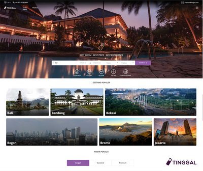 Tinggal Aims to be The Default-Operating Platform for Small Hotels