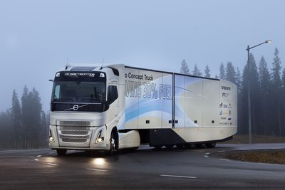 Volvo Trucks' Latest Concept Vehicle Tests a Hybrid Powertrain for Long Haul Transport