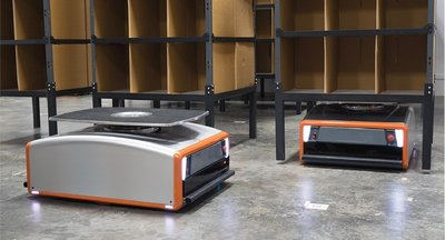 The GreyOrange Butler is an innovative robotic goods-to-person solution for automated inventory storage