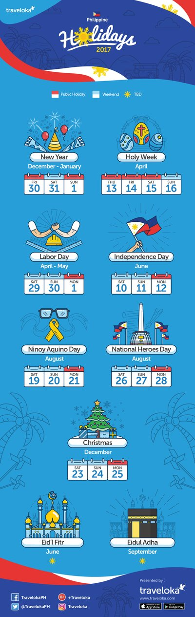 Traveloka: Philippines Holidays with Long Weekends