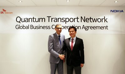 SK Telecom and Nokia Sign Cooperation Agreement for Quantum Cryptography