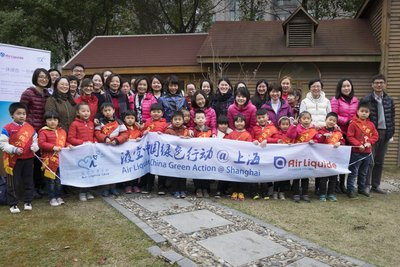 Air Liquide China brings greenery to Shanghai elementary schools