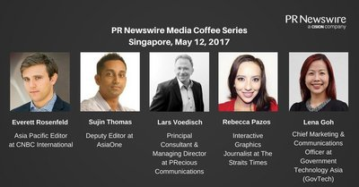 Speakers for PR Newswire's Singapore Media Coffee event
