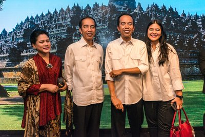 President Joko Widodo makes private visit to Madame Tussauds Hong Kong