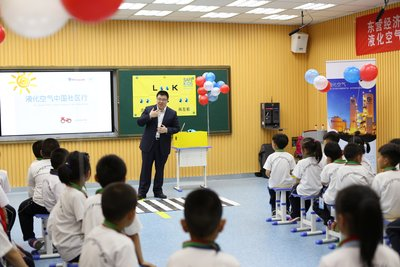 Air Liquide China promotes road safety knowledge among primary school students in Shandong Province