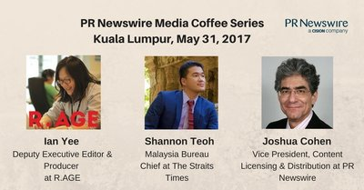 Speakers for PR Newswire's Kuala Lumpur Media Coffee on May 31
