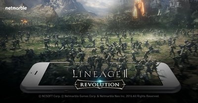 Netmarble's Mobile MMORPG Lineage2 Revolution dominates in the Asia.
