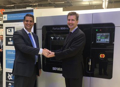 Western Tool & Mold and Stratasys Handshake