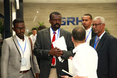 苏丹国防部一行莅临森赫电梯参观考察