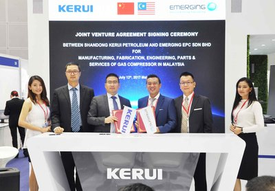 Kerui Petroleum inked a contract with Malaysian company Emerging EPC Sdn Bhd to form a joint venture in the country.