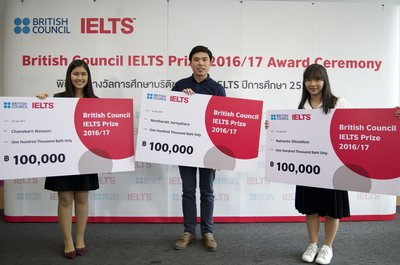 Three students in Thailand win 2017 British Council IELTS Prize to pursue their dreams of studying overseas