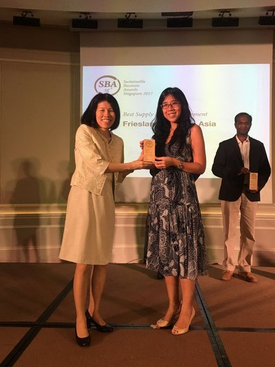 FrieslandCampina Asia Wins Sustainable Business Award